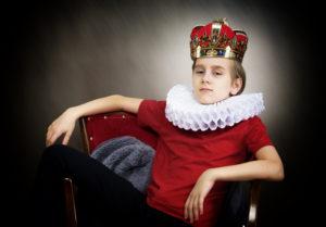 Bild von Junge als König