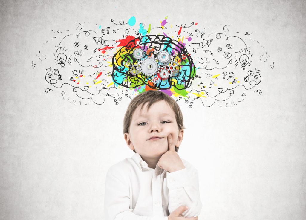 Bild von nachdenkendem Kind