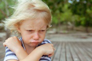 Bild von trotzigem Kind