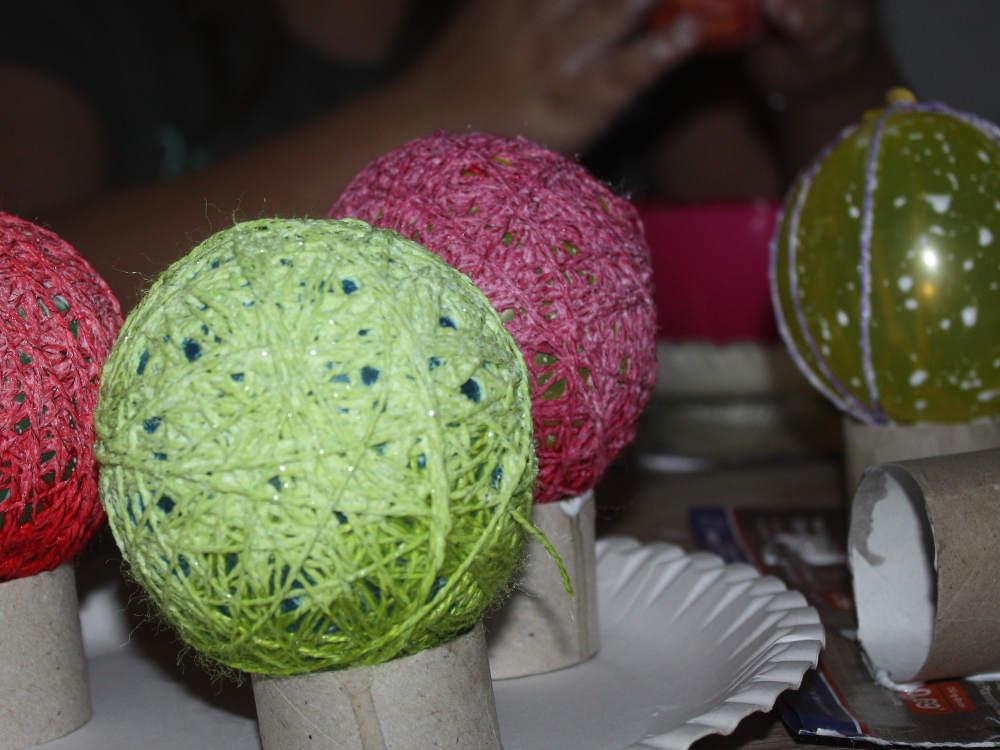 Bild: Wollbälle für Lichterketten