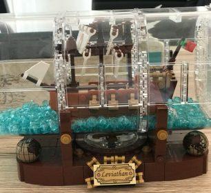 Lego Ideas Produkt Schiff in der Flasche