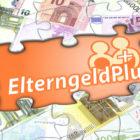 Bild Puzzle Geld mit Text Elterngeld+