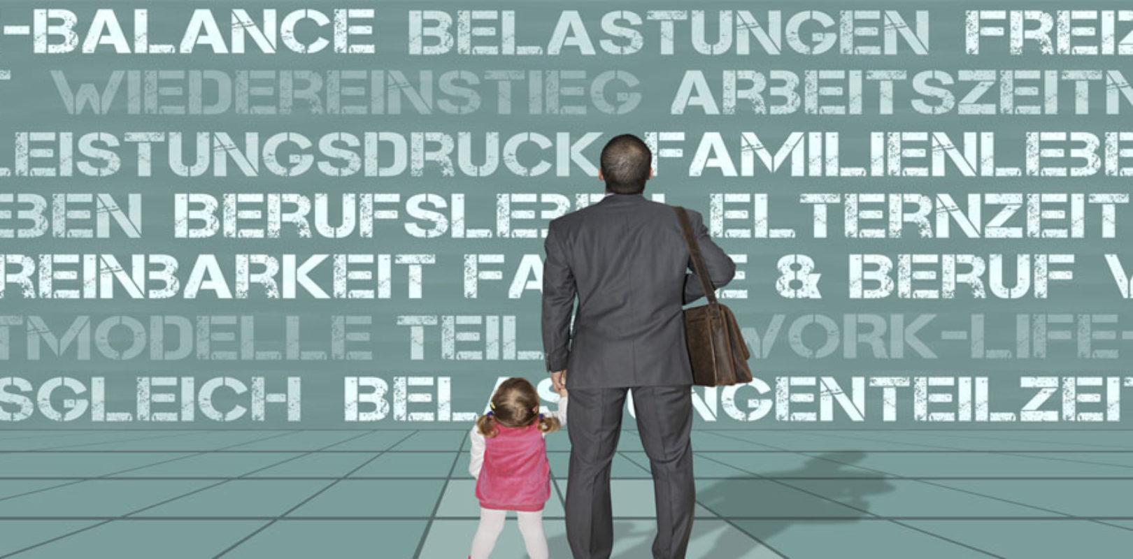 Bild Papa und Tochter vor der Elternzeit