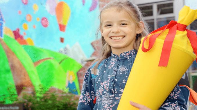 Bild eines Mädchen in der Grundschule