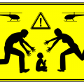 Bild Warning Helikopter Eltern
