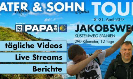 Papa und Sohn auf dem Jakobsweg – Live Reportage