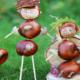 Bild mit gebastelten Kastanien
