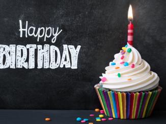 Bild einer Torte, Happy Birthday