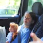Bild zwei Kinder im Kindersitz