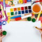Malen mit Stiften und Wasserfarbe