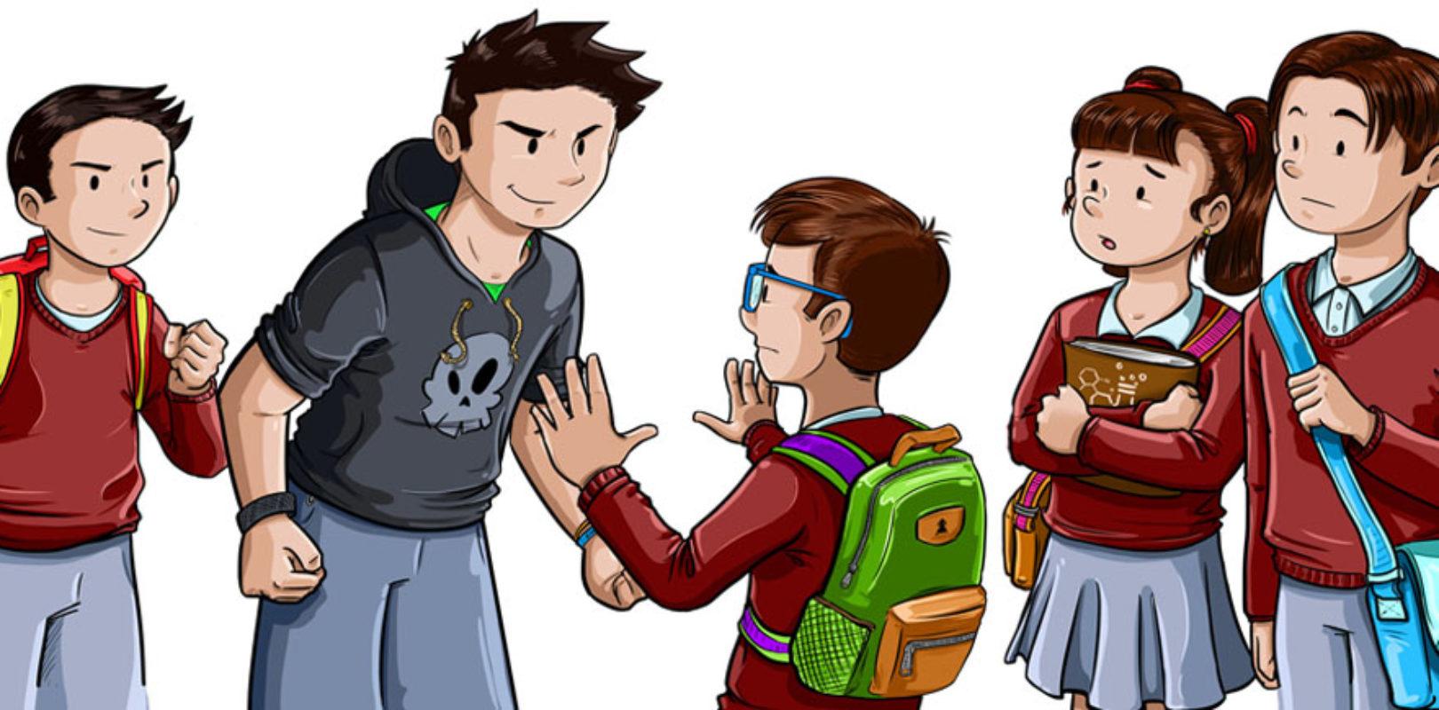 Bild (Comic) Mobbing in der Schule