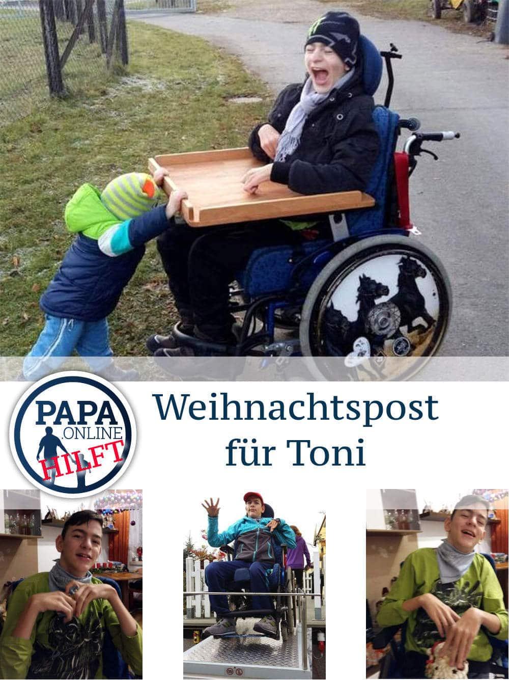 Bild papa.de hilft Toni - Weihnachtskarten für den 14-Jährigen